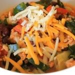 Turkey + Veggie Chili #veggiechilirecipe