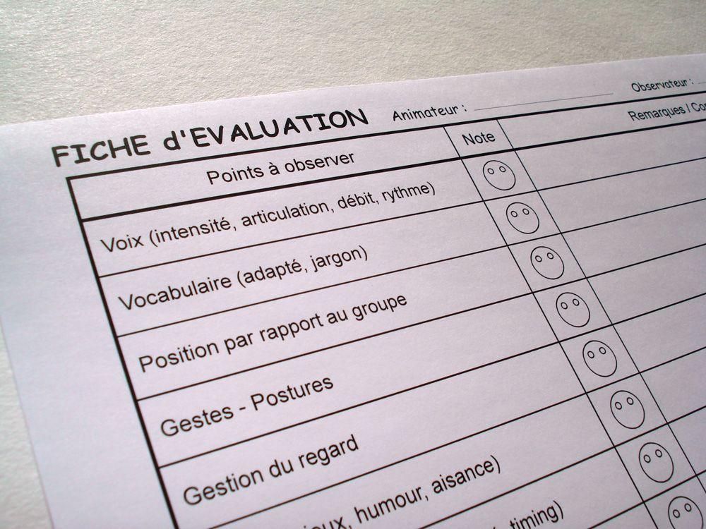 Extrait de la grille d'évaluation et d'auto-évaluation des ...