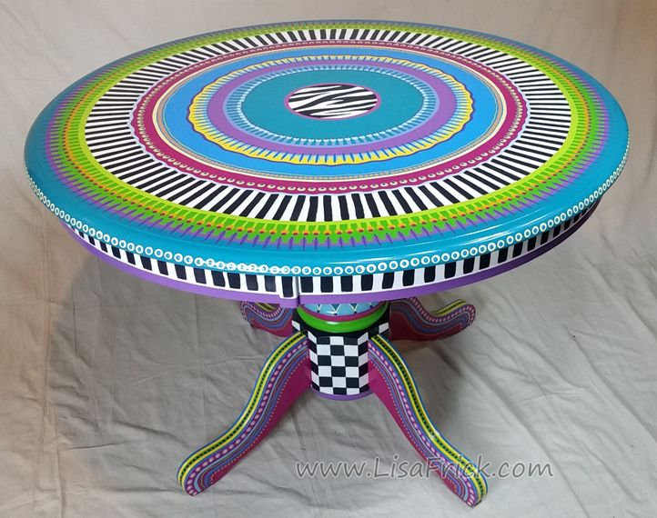 Painted Round Table Top   Google Search