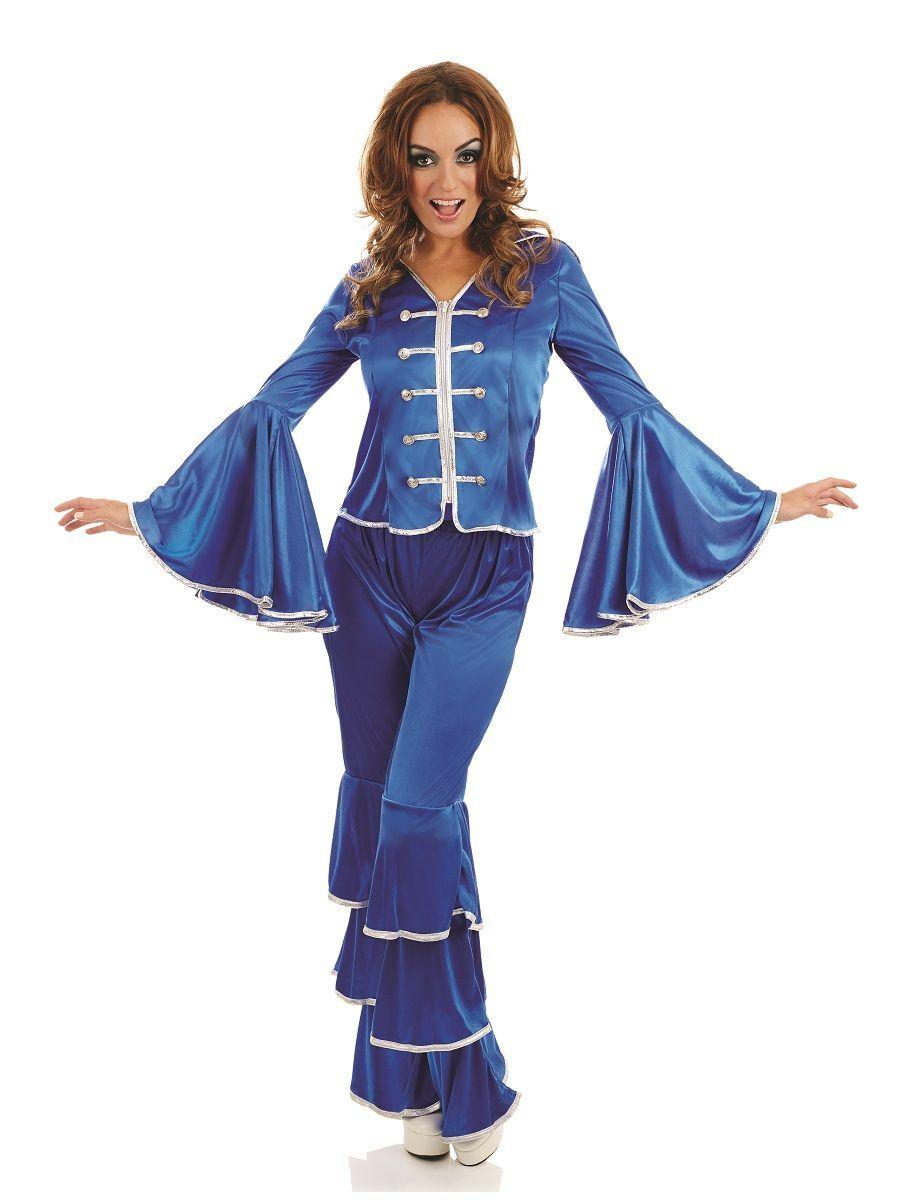 70 S Blue Abba Dancing Queen Costume 4197 Queen Costume