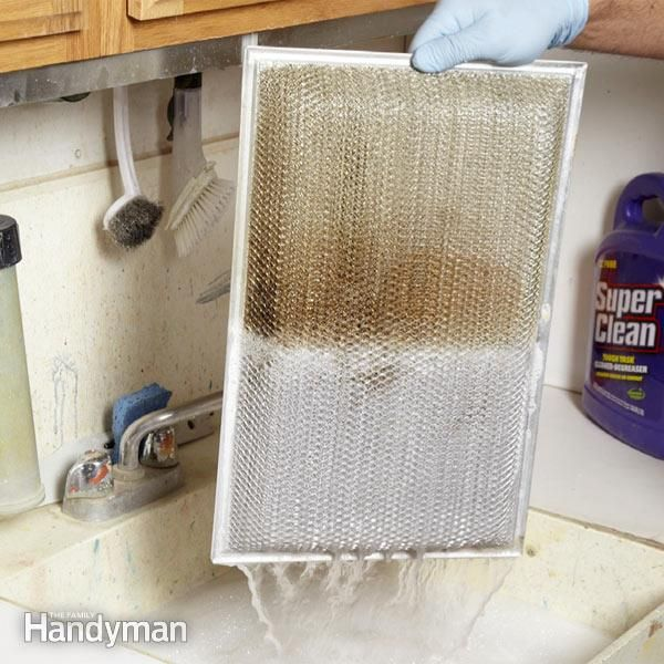 clean the stubborn grease from your range hood grease filter quickly and easily with a mixture