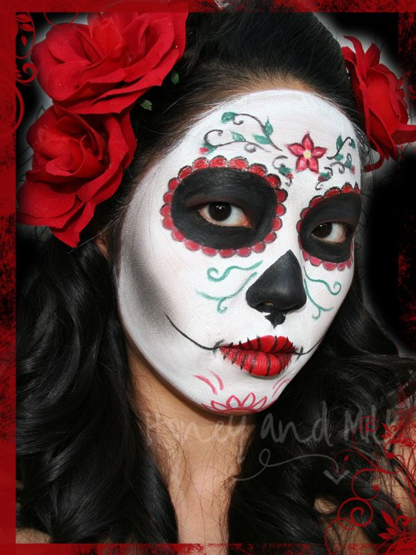nachgeschminkt halloween tutorial d a de los muertos look fasching. Black Bedroom Furniture Sets. Home Design Ideas