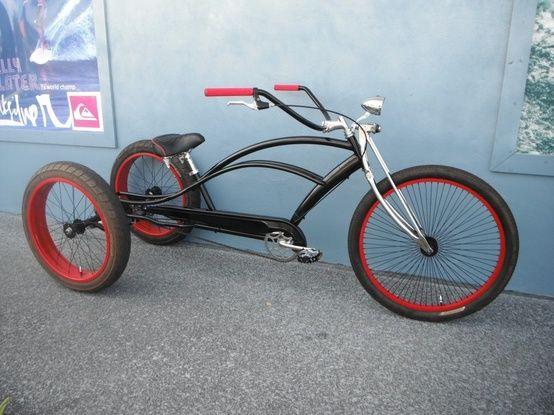 Custom Rat Rod Stretch Cruiser Trike Bicycle Custom Bicycle