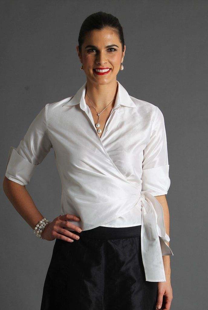 e5b2d7a01c Our pure silk wrap shirt epitomises elegance. With a classic collar and  french cuff