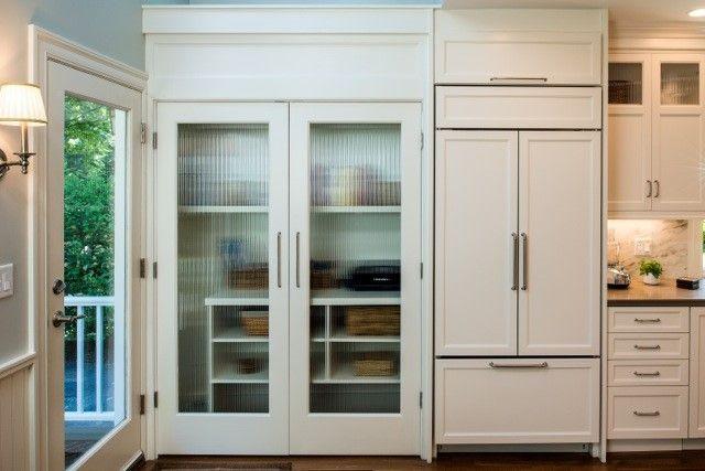 Reeded Decorative Gl Pantry Doors