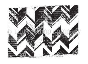 Unity Stamp Misplaced Chevron Rubber Cling | eBay