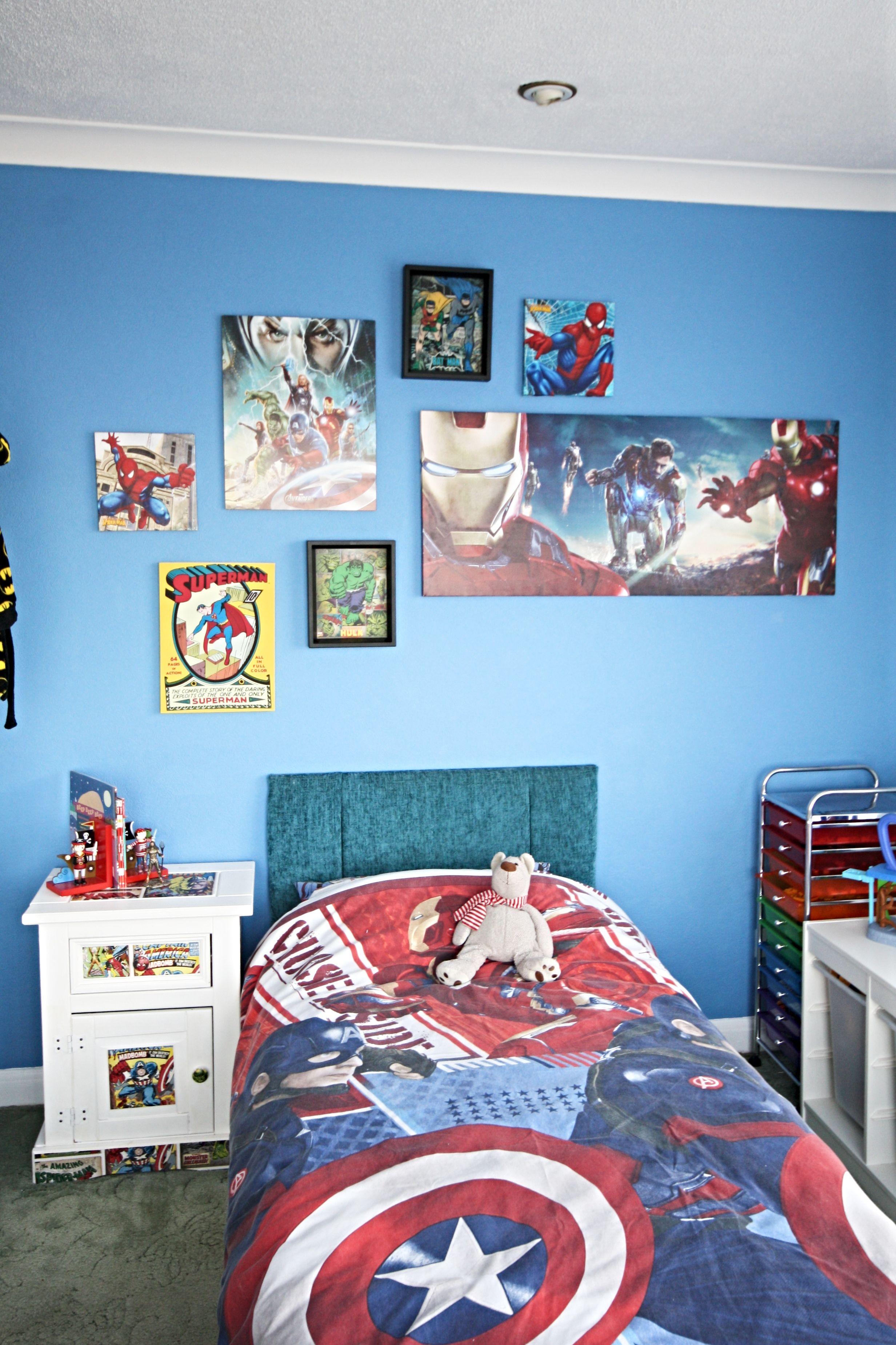 Superhero Bedroom Reveal Superhero Bedroom Cheap Diy Home Decor Little Boy Bedroom Ideas
