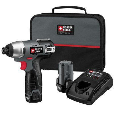 Porter Cable Pcl120idc 2 12 Volt Max Lithium Ion 3 8 In Cordless Impact Driver Porter Cable Drill Driver Drill