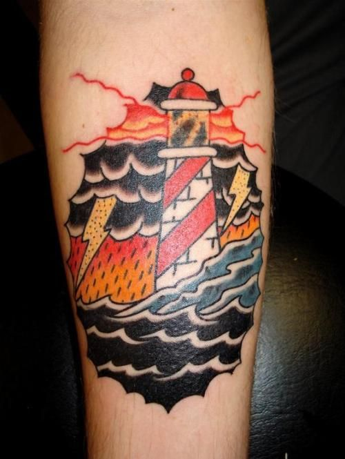 Lighthouse American Traditional Tattoo: Tattoo Old School / Traditional Nautic Ink