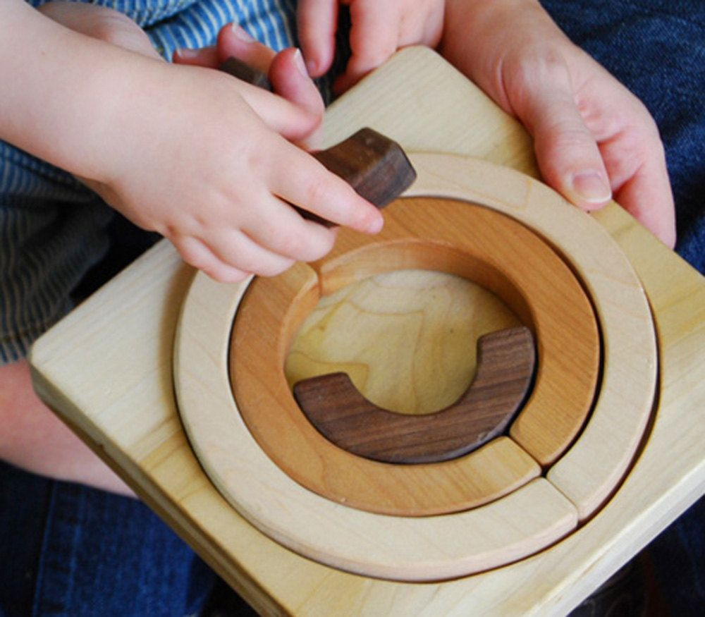 Wood Toy Rainbow Wood Puzzle, Educational Wooden Puzzle and Balancing Toy. $28.00. from Manzanita Kids via Etsy.