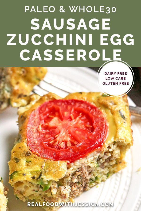 Sausage Zucchini Egg Caserole