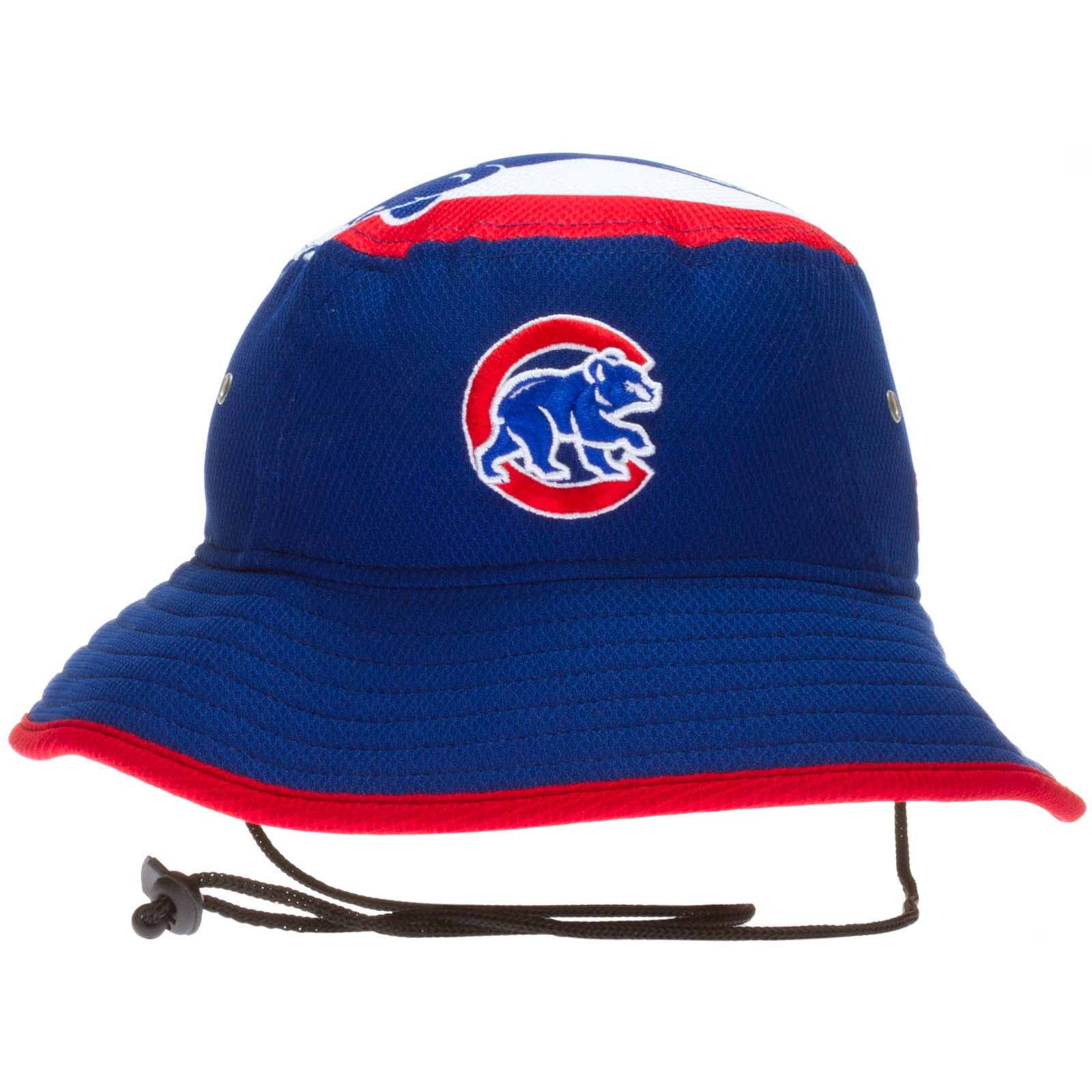 a369ca3dc Chicago Cubs Royal and Red Crawl Bear Logo Topper Bucket Hat by New Era # Chicago #Cubs #ChicagoCubs
