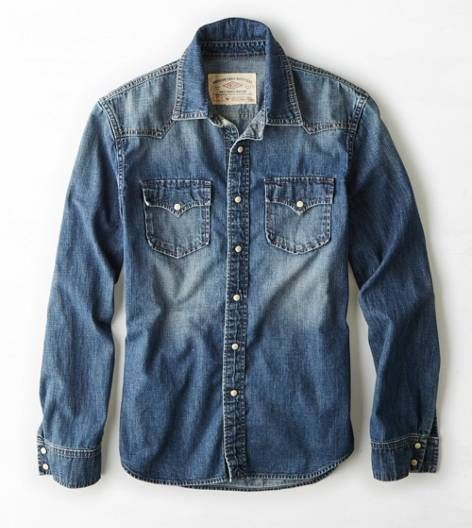 Blue Vintage Denim Western Shirt / by American Eagle Outfitters