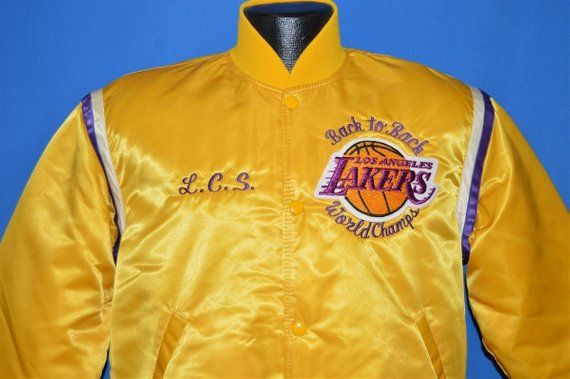 30d72bf13 80s Los Angeles Lakers Back To Back Starter Jacket Medium in 2019 ...
