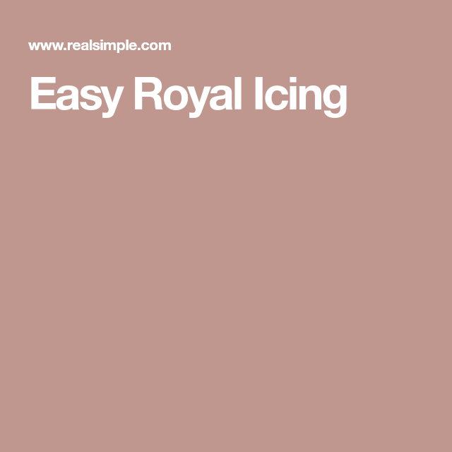 Easy Royal Icing #easyroyalicingrecipe
