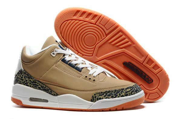 Original Nike Air Jordans 3 III Basketball Shoe Brown White AJ3 for Sale
