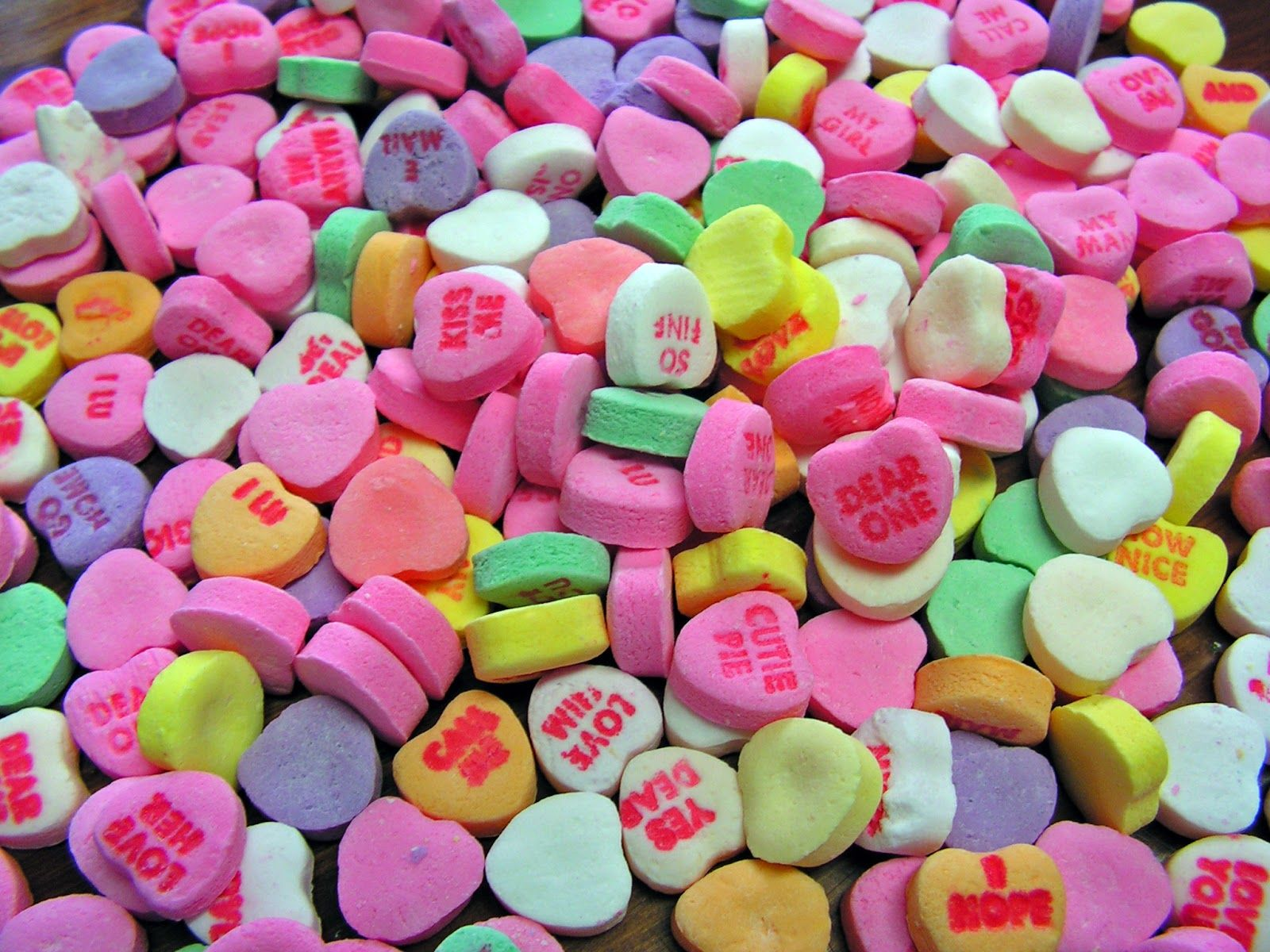 Valentines Day Candy Hearts Wallpaper
