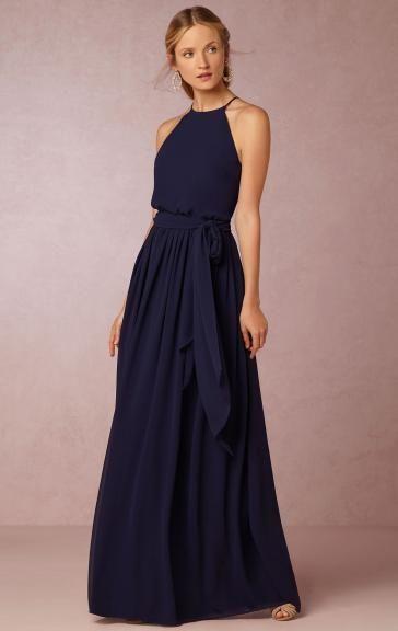 Unique Navy Blue Long Bridesmaid Dress BNNDE0012-Bridesmaid UK   My ...