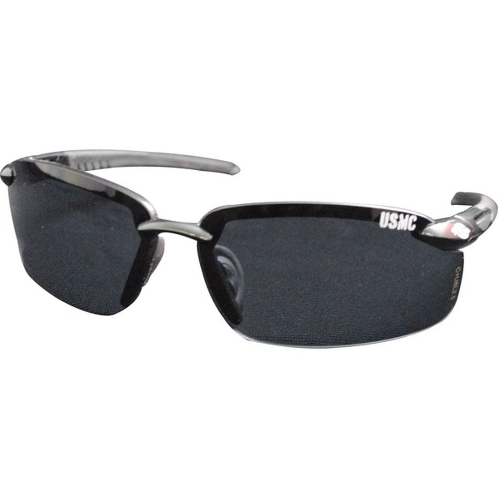 d66b434068 Protect your eyes in these black Marine Corps Sunglasses! Features a  floating