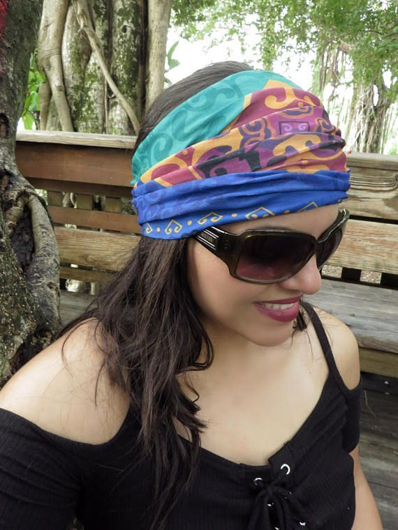 Wide Headband, Running Headband, Yoga Headband, Fitness Headband, Women Hippie H...   - Ethnicca - E...