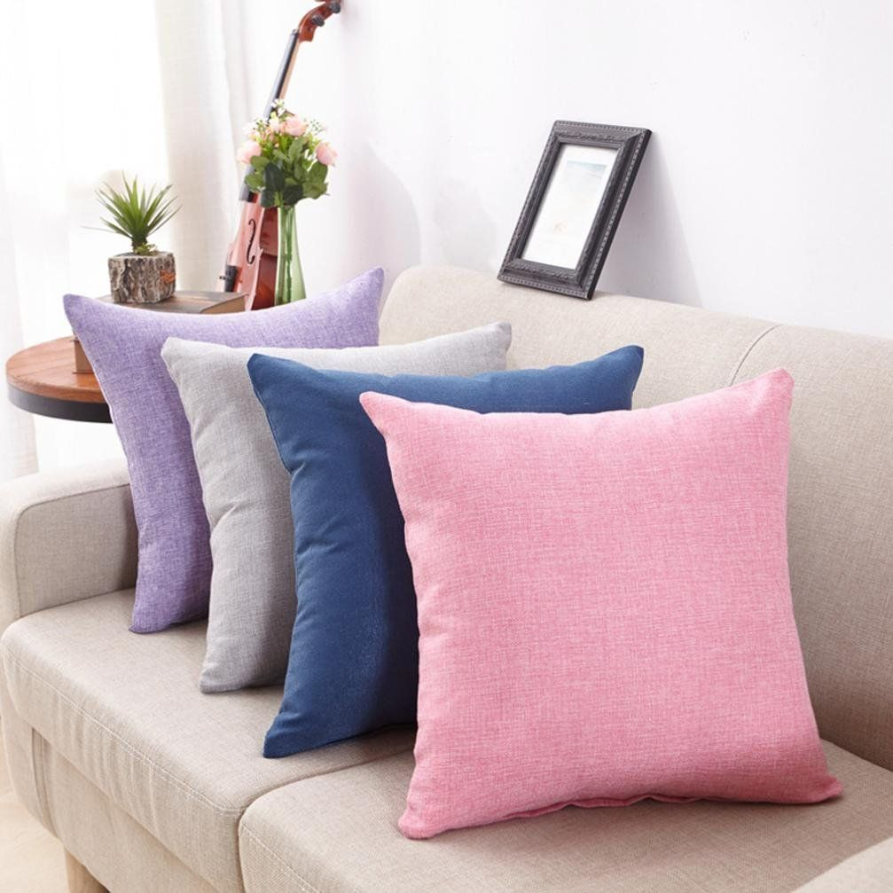 Clearance Pillowcasesimple Modern Soft Linen Throw Pillow Cover Cafe Sofa Cushion Cover Home Decor Pi Cushions On Sofa Throw Pillow Styling Sofa Throw Cushions