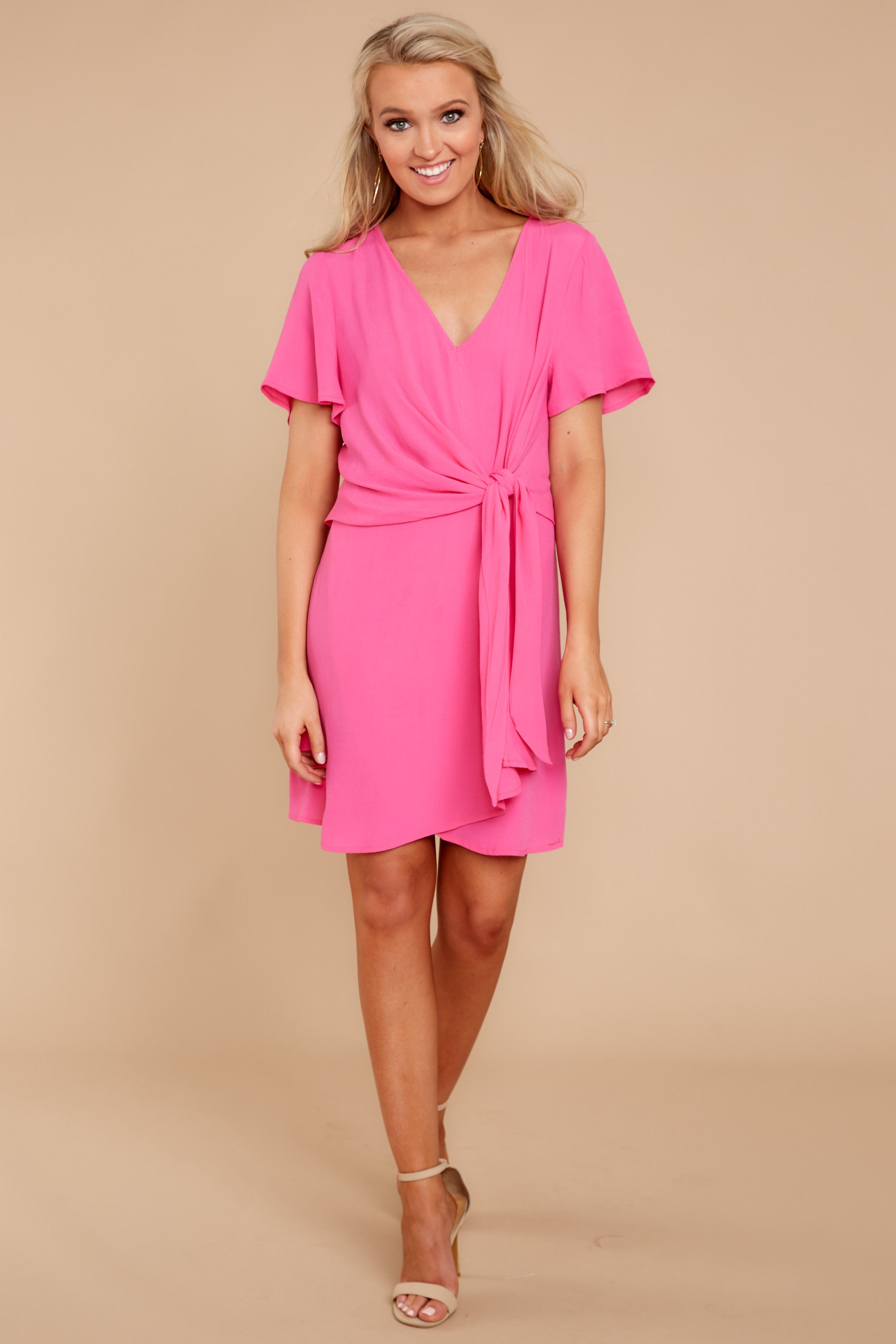 bec7d7b7e5987 Right In Time Fuchsia Pink Dress
