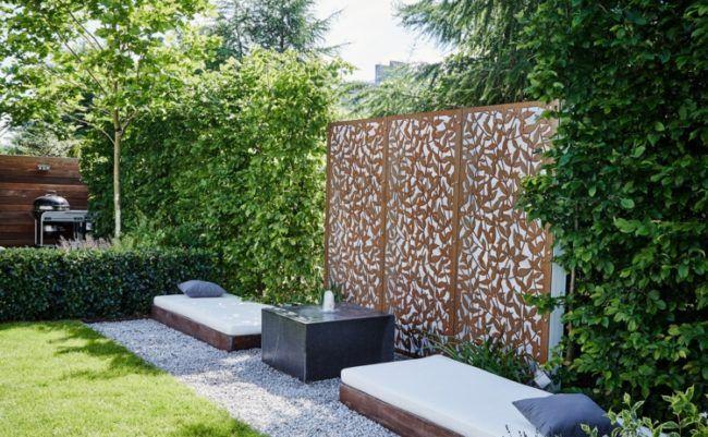 Ideen zur gartengestaltung modern sichtschutz deko for Gartengestaltung springbrunnen