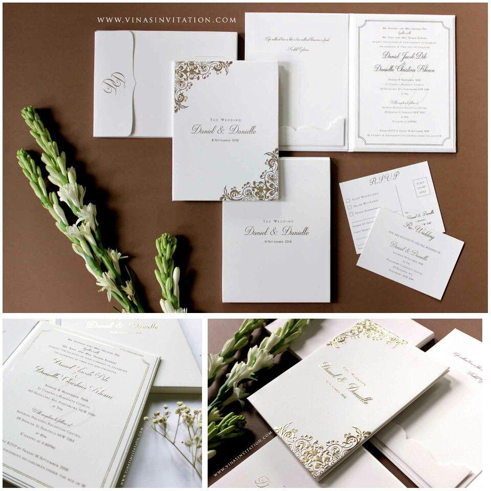 Vinas invitation. Simple elegant. Unique invitation. Wedding ...
