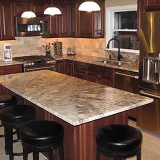 This Barrington, RI Kitchen Features Semi Custom Cabinets In A Cherry  Sangriau2026