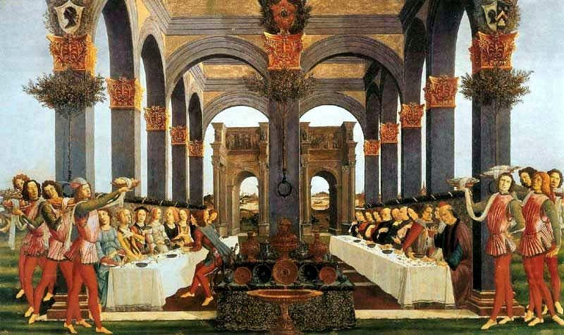 The Parable Of The Wedding Feast Botticelli Paintings Sandro Botticelli Botticelli