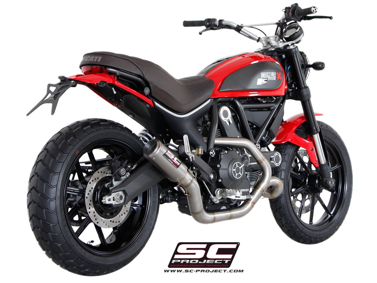 ducati scrambler crt exhaust crt auspuff scrambler ducati. Black Bedroom Furniture Sets. Home Design Ideas