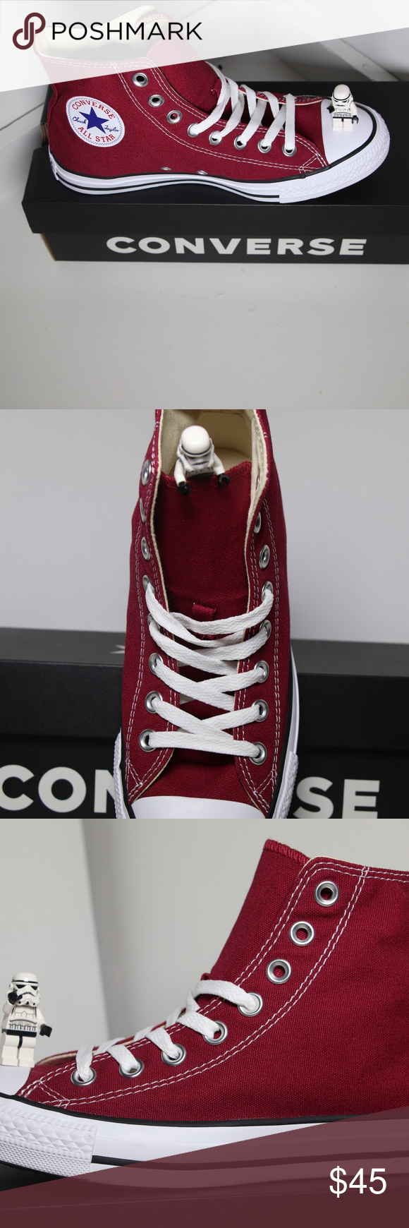 036f8478c562 Maroon Classic Converse All Star High Top BRAND NEW in ORIGINAL BOX  100%  AUTHENTIC. More sizes available (listed below) in LOW TOPS   HIGH TOPS in  Black