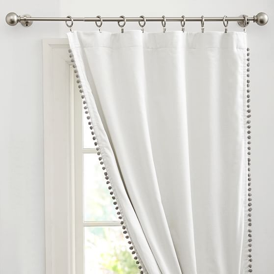 Pom Pom Blackout Curtain Panel Cool Curtains Pom Pom Curtains Custom Drapes