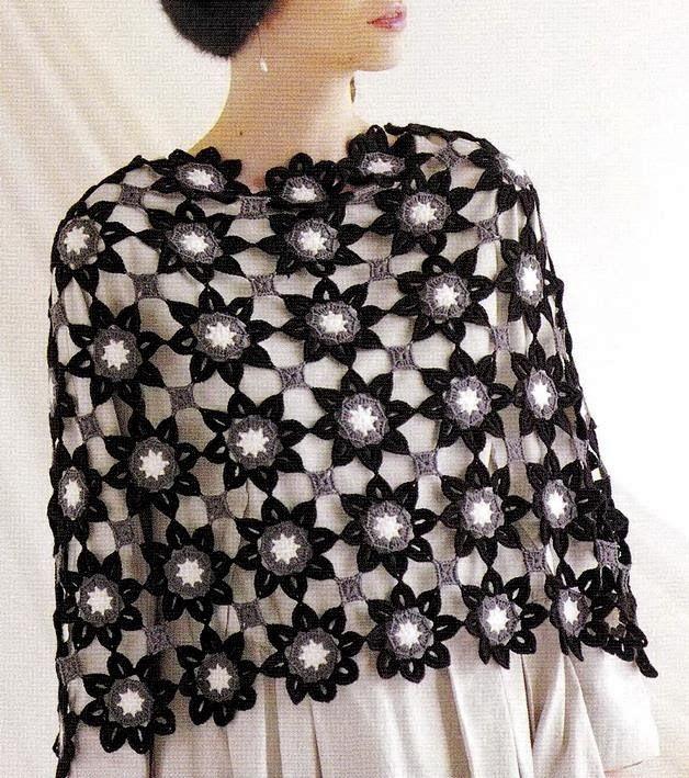 Crochet Shawls: Crochet Patterns Of Chic Shawl for Women | chal ...