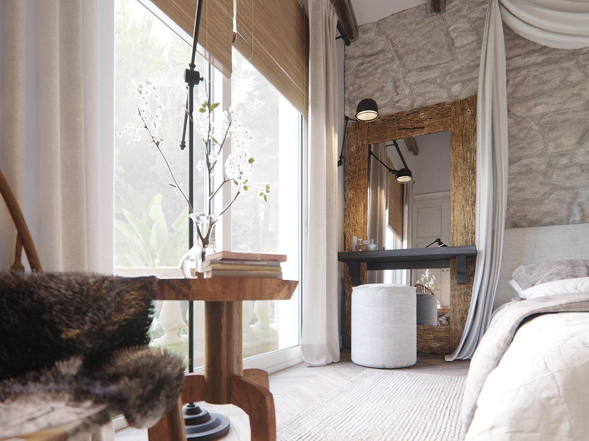 2 Homes in Mediterranean Rustic Chic | Driftwood Furniture ...