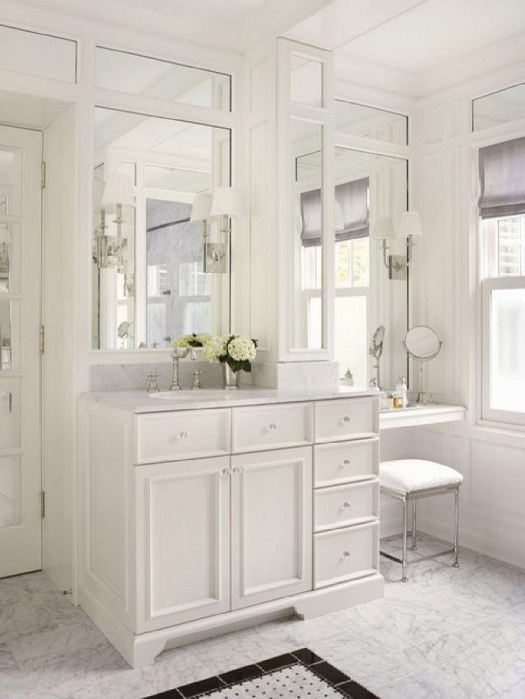 36 unique makeup vanities for bathrooms in 2020 with