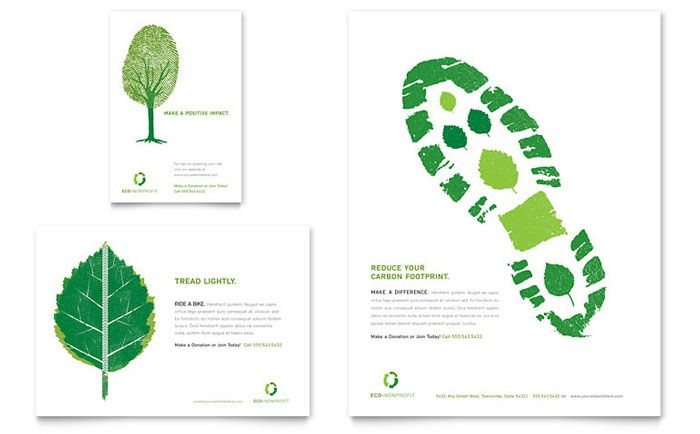 Environmental Non Profit Flyer and Ad Design Template by - profit template