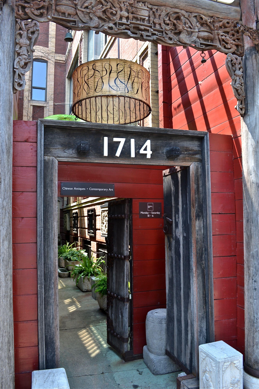 Light Shade Hanging Over Door Of Pagoda Red Store Entrance Damen