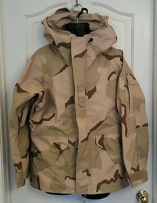 1659b9761cc2a US Military Parka Cold Weather Desert Camouflage GoreTex Small Short ...