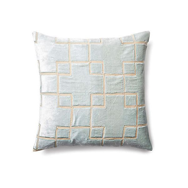 Block 40x40 Velvet Pillow Seafoam Decorative Pillows 40 CAD Interesting Seafoam Decorative Pillows
