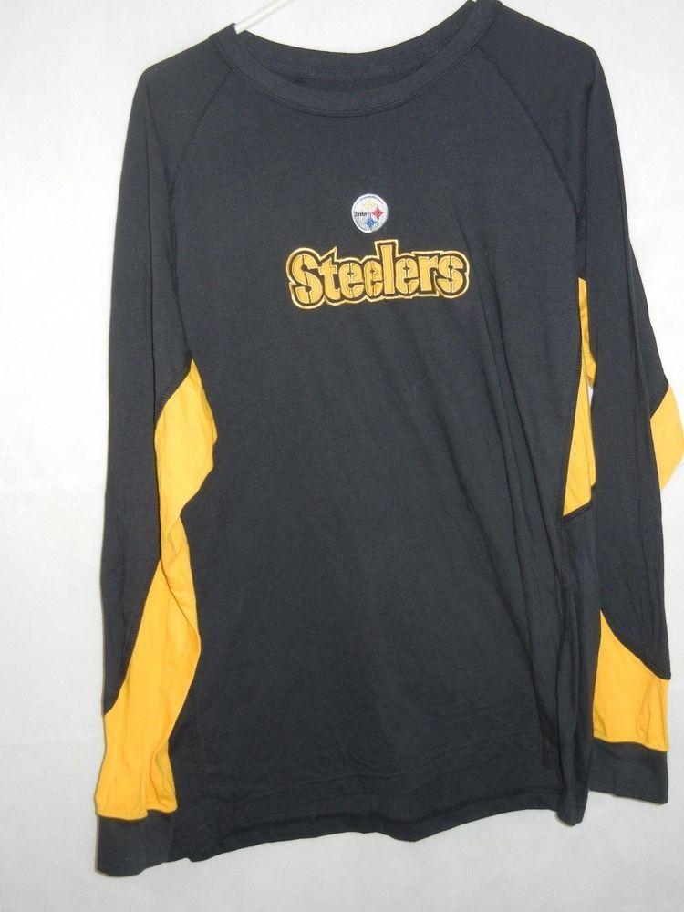 492c62e2186 Pittsburgh Steelers XL long sleeve t-shirt sewn logos NFL Team Apparel  #NFLTeamApparel #Tshirt #PittsburghSteelers