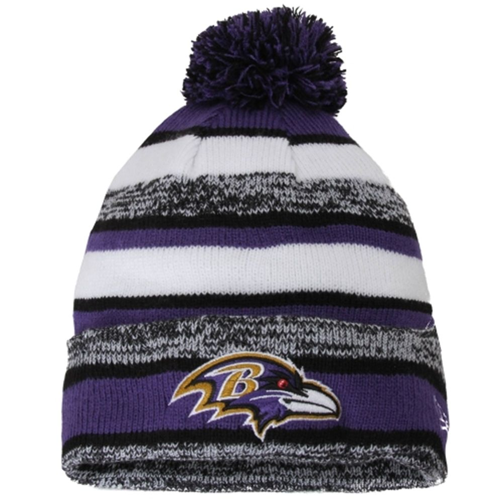 591560be688 Youth Baltimore Ravens New Era Sideline Sport Knit Hat
