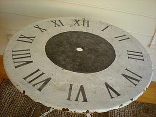 Umbrella Table With Clock Face