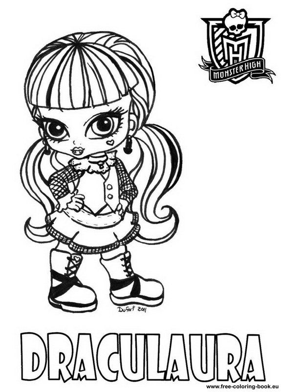 monster high babies coloring pages - Monster High Color Pages Free