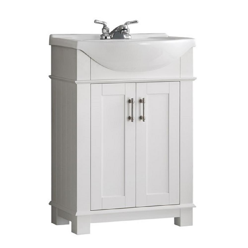 Fresca Hudson 24 In W Traditional Bathroom Vanity In White With