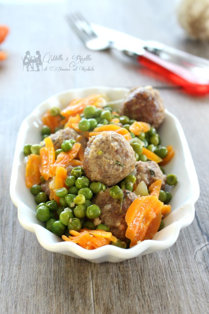 Photo of Stewed meatballs with peas – Mille 1 Ricette