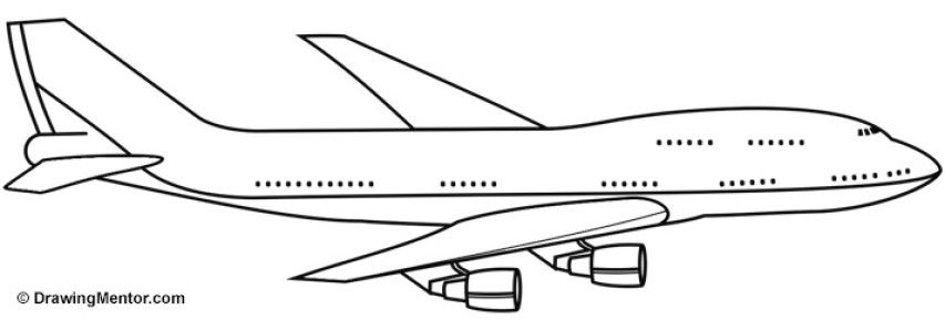 How to Draw a Plane Tutorial   Drawing tutorial, Learning ...