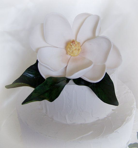Magnolia Cake Topper Flower Magnolia Cake Cake Toppers Cake