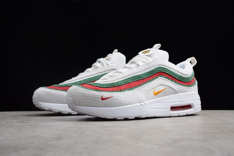 Gucci X Nike Air Max 97 1 White Red Green  ca862c4f9