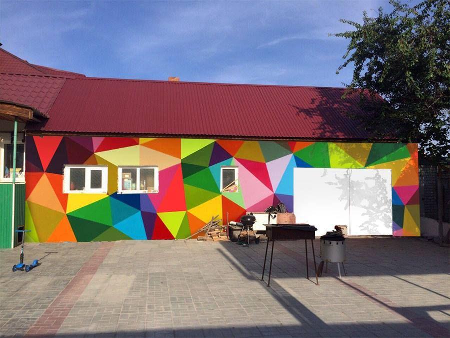 Inspiring Mural For School Would Be Fun On A Backyard Fence Garden Mural School Murals Mural
